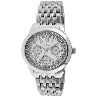 Peugeot Women's 7089S Crystal Accent Silvertone Multifunction Watch
