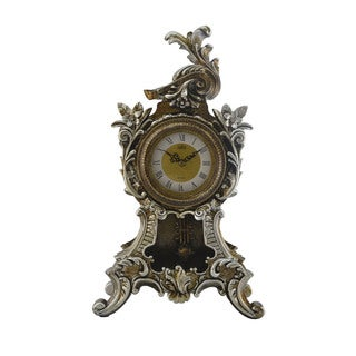 Antique Style Table Clock with Swinging Pendulum
