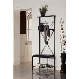 Black/ Brown Bench Coat Stand
