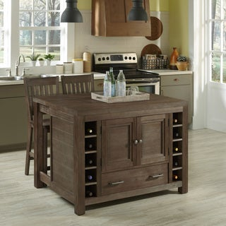Barnside Kitchen Island and Two Stools