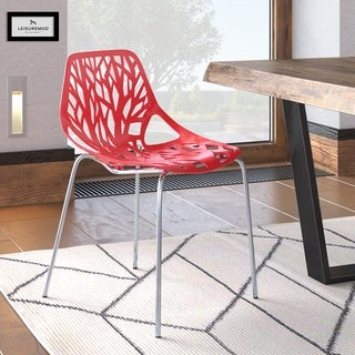 Somette Asbury Modern Red/ Chrome Dining Chair