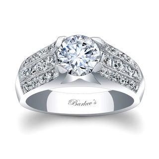 Barkev's Designer 14k White Gold 1 3/4ct TDW Diamond Engagement Ring (F-G, SI1-SI2)