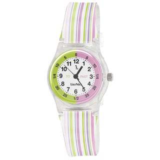 Lily Nily Kids' Plastic and Stainless Steel Stripe Watch
