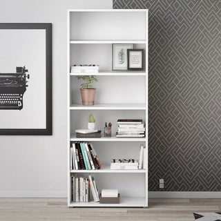 Pierce 5-shelf Contemporary Bookcase