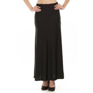 Women's Shimmery Black Maxi Skirt