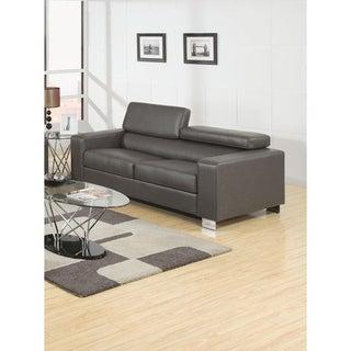 Furniture of America Mazri Bonded Leather Pneumatic Gas Lift Headrest Sofa