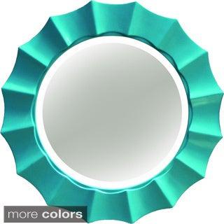 Sunshine Beveled Decorative Round Mirror