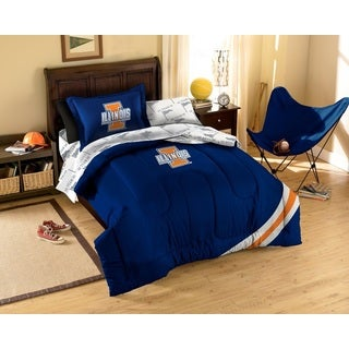 Illinois University 7-piece Bed in a Bag Set