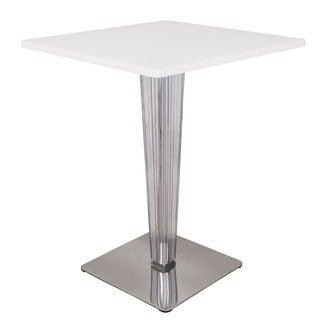 Somette Glen Modern MDF White Dining Table