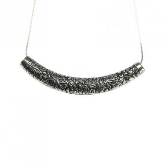 Tibetan Silver Long Curve Pendant Necklace (China)