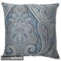 Pillow Perfect Royal Paisley Blue Throw Pillow