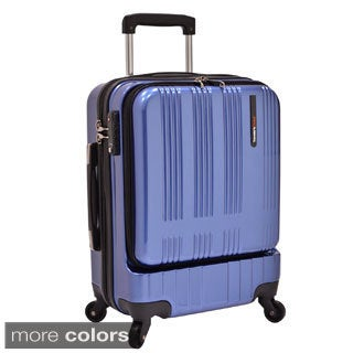 Traveler's Choice Tribecca 20-inch Carry On Hardside Spinner Mobile Office Suitcase