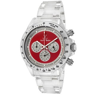 ToyWatch Men's 6010RDP Red Dial Clear Polycarbonate Watch