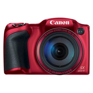 Canon SX400 IS 16MP Red Digital Camera