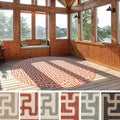 Meticulously Woven Nikki Contemporary Geometric Indoor/Outdoor Area Rug (7'3 Round)