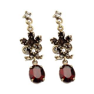 Sweet Romance Victorian Oval Earrings