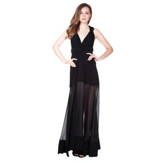 Von Ronen Women's Sheer Combo Transformer Wrap Dress One Size Fits 0-12