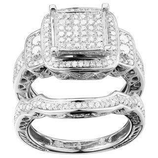 10k White Gold 9/10ct TDW Diamond Ring Set (G-H, I1-I2)