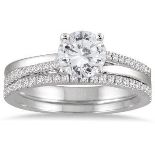 14k White Gold 1 1/4ct TDW Diamond Bridal Set (I-J, I2-I3)