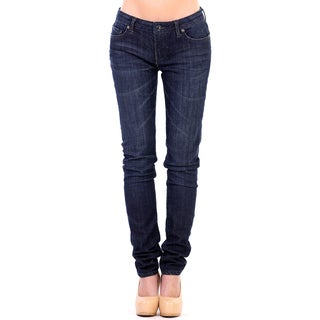 Stitch's Women's Blue Comfort Slim Soft Denim Jeans Straight Leg Pants