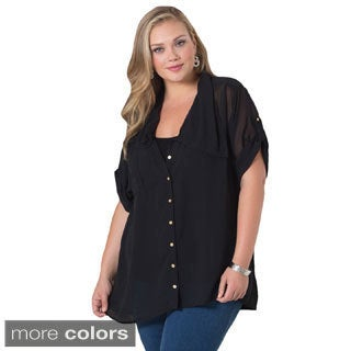 Sealed with a Kiss Women's Plus Size 'Eleanor' Chiffon Blouse