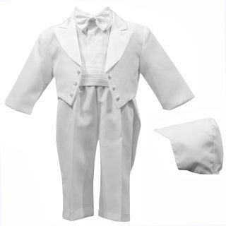 Boys White Special Occason Christening 5-piece Tuxedo
