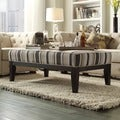 INSPIRE Q Kayla Montgomery Stripe Upholstered 48-inch Cocktail Ottoman