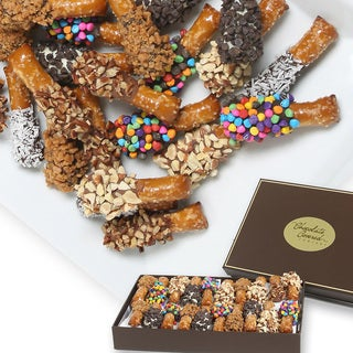Ultimate Design Belgian Chocolate Covered 20-piece Mini Pretzels