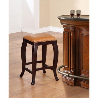 Oh! Home Pinnacle Backless Counter Stool Dusty Brown Seat