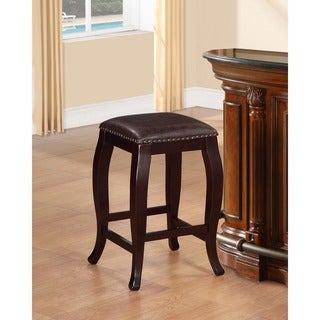 Linon San Francisco Brown Square Top Counter Stool