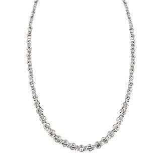 Icz Stonez Sterling Silver 32ct TGW Cubic Zirconia 17-inch Necklace