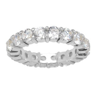 Kele & Co Sterling Silver Round-cut Cubic Zirconia Ring