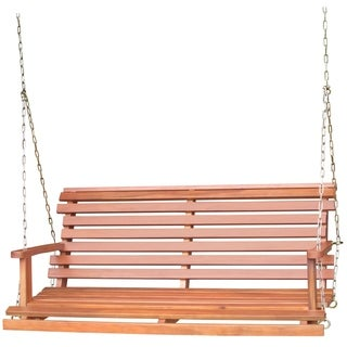 Acasia Wood Bench Swing with Chain