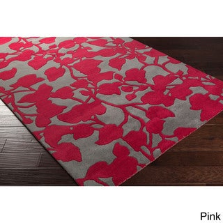Hand-tufted Leslie Floral New Zealand Wool Area Rug (2' x 3')