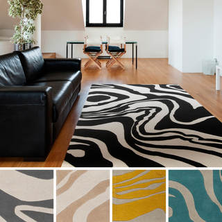 Hand-tufted Lydia Abstract New Zealand Wool Area Rug (3'3 x 5'3)