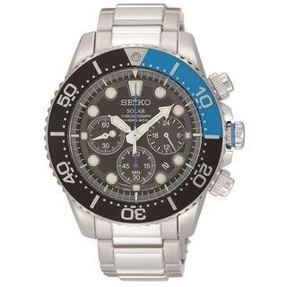Seiko Men's SSC017 Solar Chronograph Diver Watch