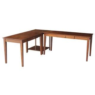 Basic Espresso 3-piece Desk/ Connecting Table Set