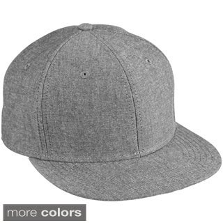 Chambray Flat Bill Cotton Baseball Cap