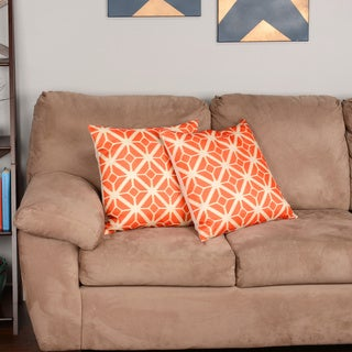 Thea Feather and Down-filled Throw Pillows (Set of 2)