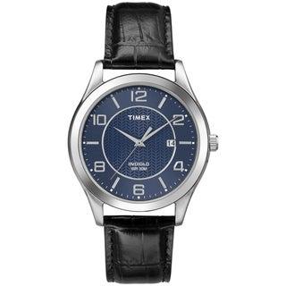Timex Men's T2P4519J Main Street Dress Leather Strap Watch