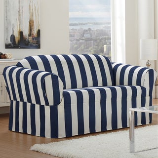 Cabana One-piece Relaxed Fit Wrap Loveseat Slipcover