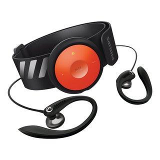 GoGear 4GB MP3 player with arm band (black/orange)