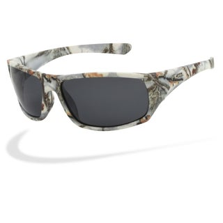 Piranha Men's 'Outdoor' White Forest Camo Oval Sport Sunglasses
