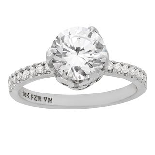 Gioelli 10KT Gold 3.85 tcw 8mm Fancy Engagement Ring