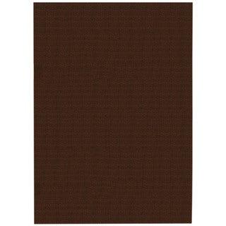 Solid Brown Rubber Back Non-Slip Door Mat Rug (1'6 x 2'6)