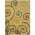 Maxy Home Ivory French Swirl Area Rug (7'11 x 9'10)