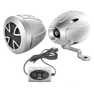 Pyle PLATVB84A 800 Watts Motorcycle/ ATV/ Snowmobile 3-inch Speakers with Amplifier and Bluetooth Kit