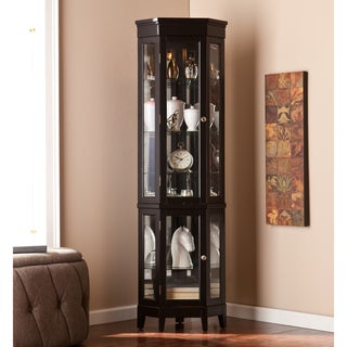 Upton Home Turin Black Curio Display Cabinet