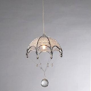 Cnidaria Umbrella-shaped Chrome and Crystal 1-light Chandelier