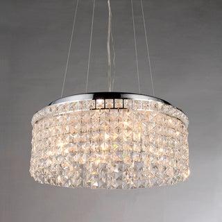 Melinda Round Cascading Crystal 4-light Pendant